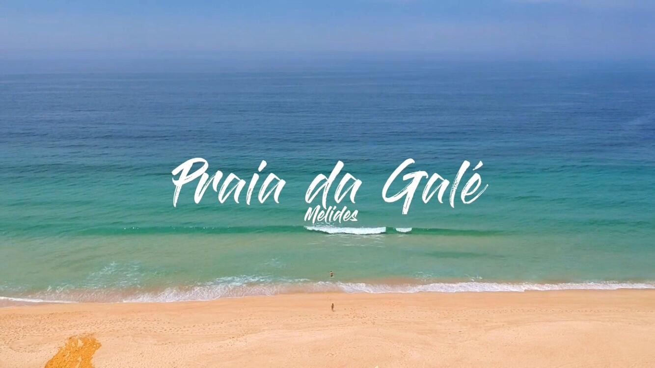 Praia da Galé drone video